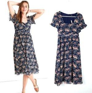 NWT Madewell Oasis Palm Midi Summer Dress Small
